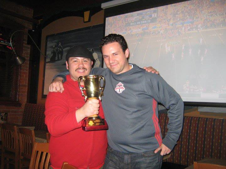 <strong>After Party</strong><br>After Party - Juan and Chris at Shoeless Joes Celebrating with the Cup